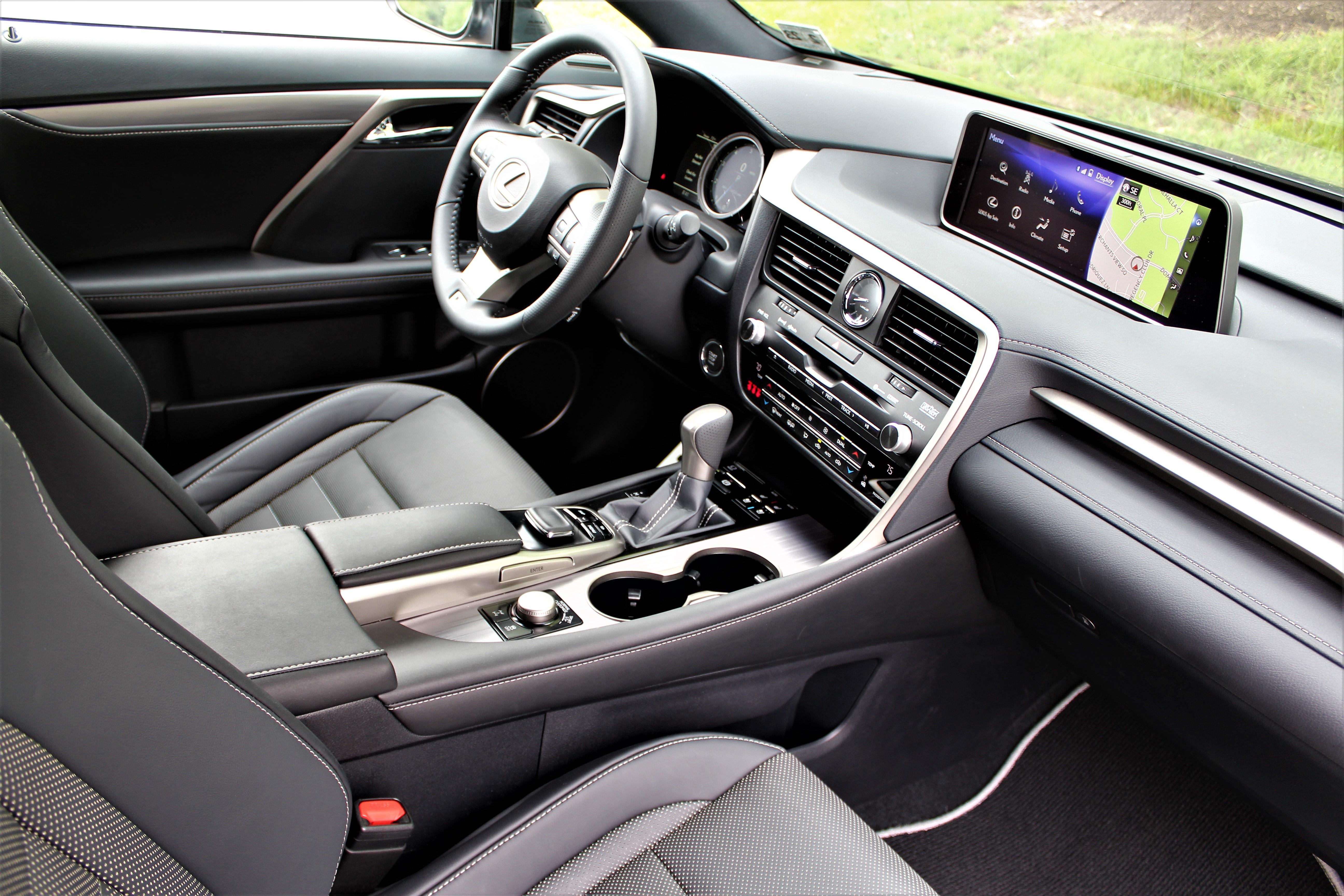 Lexus RX 350 F-Sport-Front-Int-Pass-Colonial-Roads