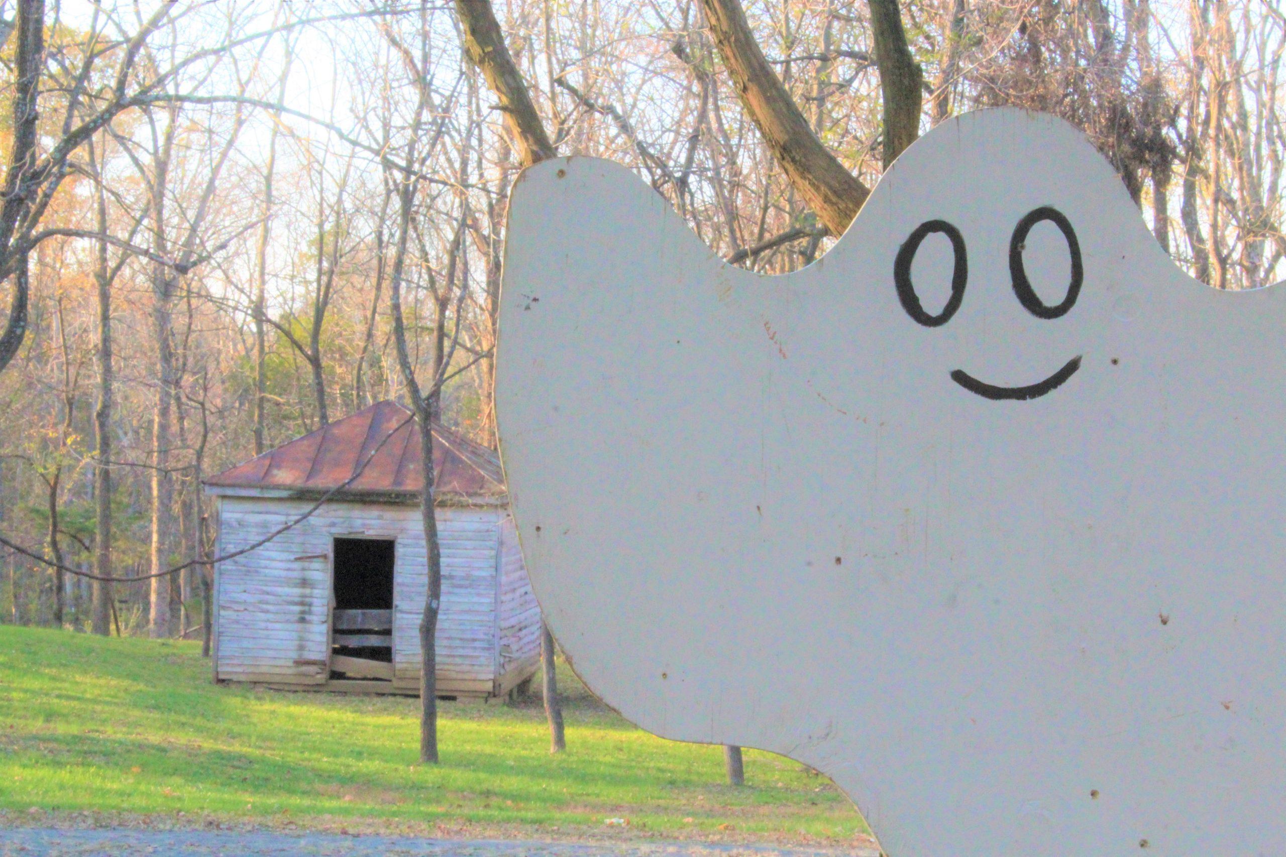 Colonial Roads photo of ghost at Ticonderoga Farm autumn event